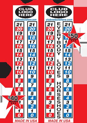 Portable Horseshoe Score Board from All-Star Record Boards