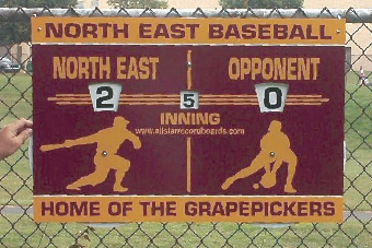 Portable Athletic Score Boards from All Star Record Boards